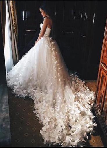 60ead119207 Свадебное платье с бабочками 4 ...