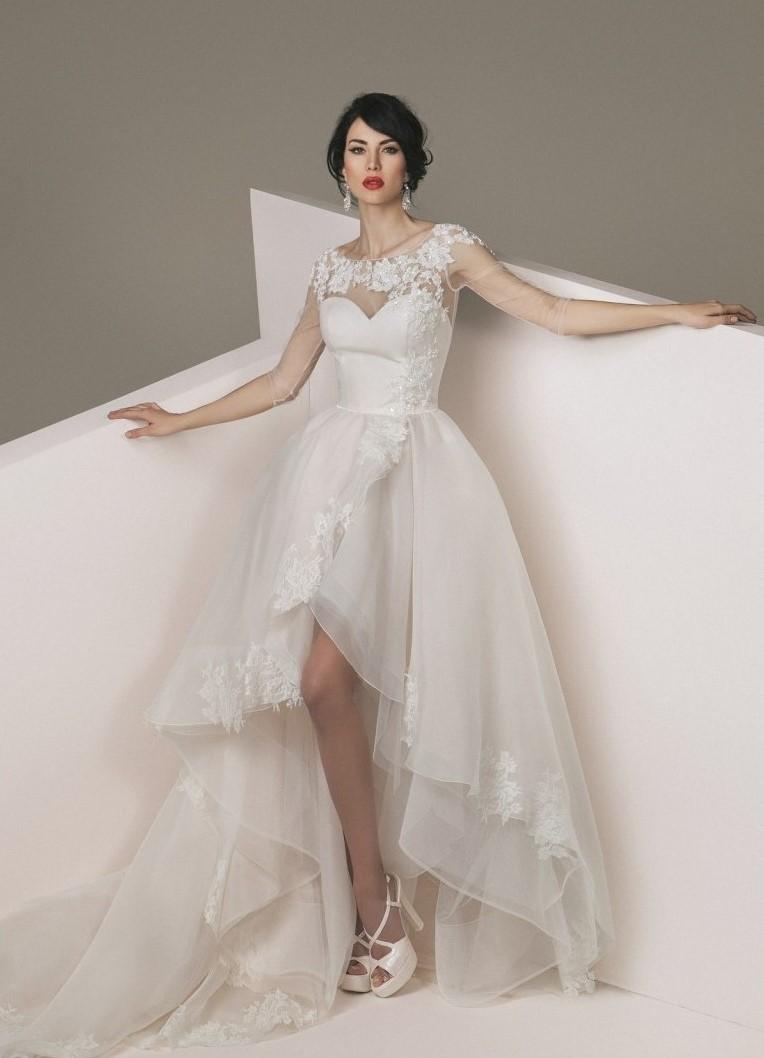 e2396c0ffc6e3d6 ... свадебное платье спереди короткое сзади длинное 5 ...
