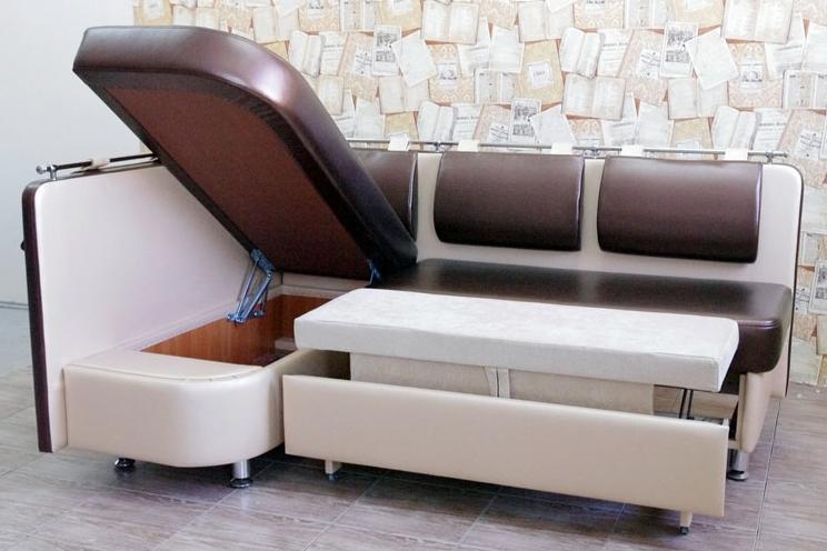 угловой диван на кухню фото
