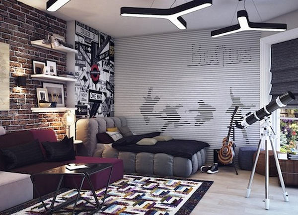 фото комната в стиле лофт