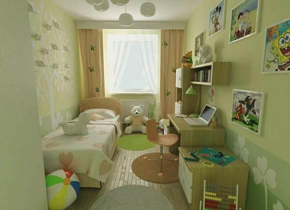 Как обставить детскую комнату для двоих детей фото в хрущевке