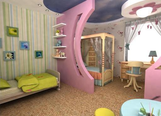 Дизайн детской комнаты для девочки и мальчика 46