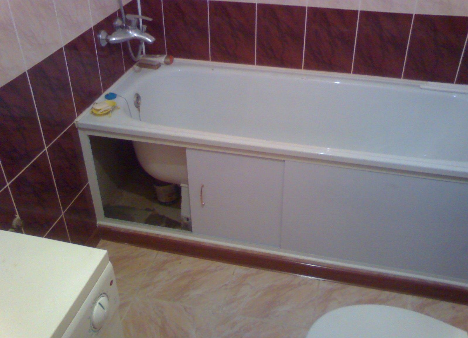 Под ванну раздвижная своими руками 710