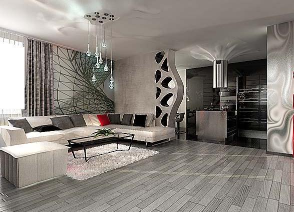 дизайн интерьера квартиры фото в современном стиле