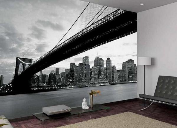 фотообои бруклинский мост фото в интерьере