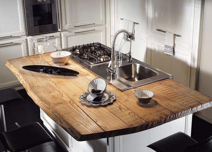 Столешница для кухни натурального дерева