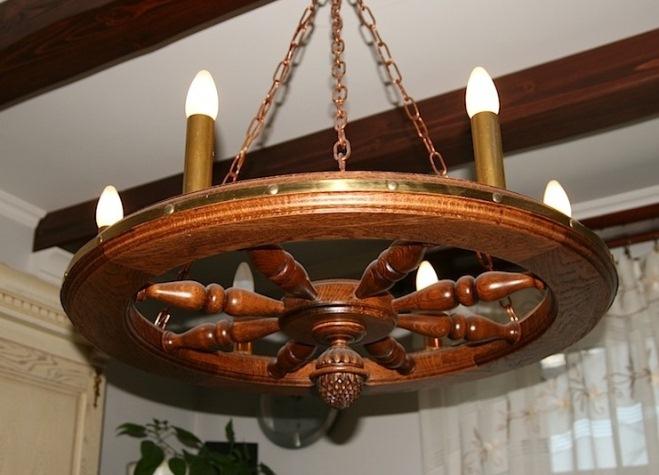 Необыкновенные светильники из дерева. ТОП 50 27