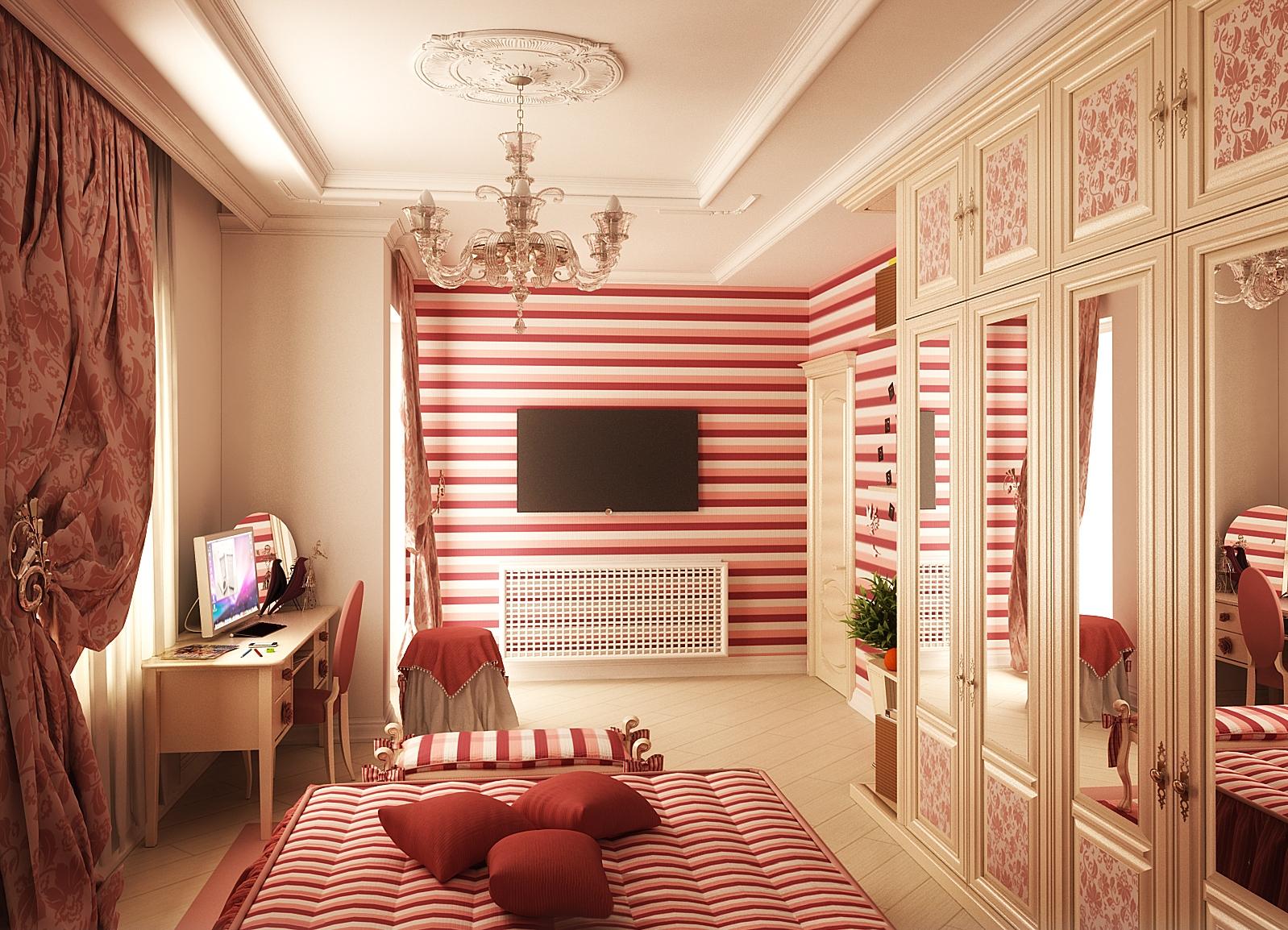 Комната для девушек скромная