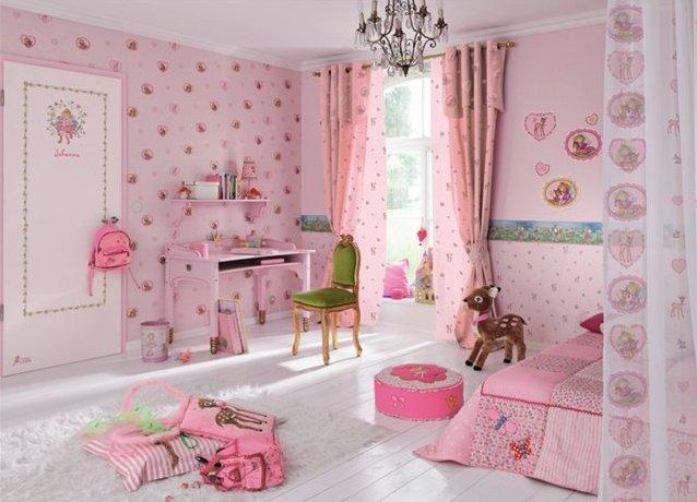 комбинированные обои для детской комнаты фото