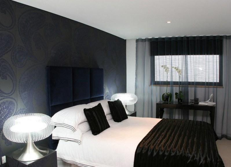 фото дизайн обои спальня