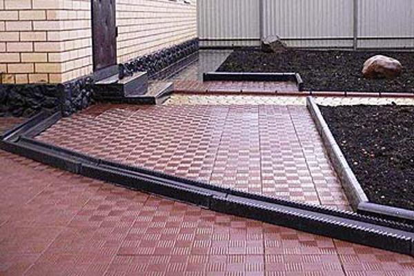 виды тротуарной плитки для дачи фото