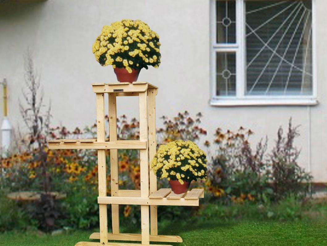 Уличная подставка для цветов из дерева своими руками фото