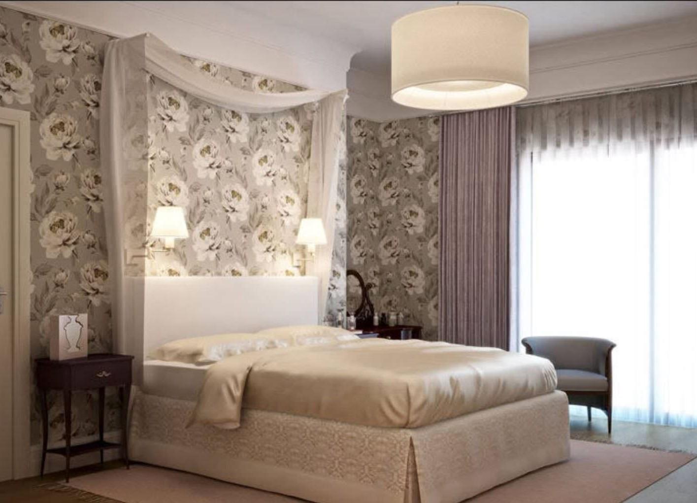 интерьер спальни обои фото в картинках для начала рабочей