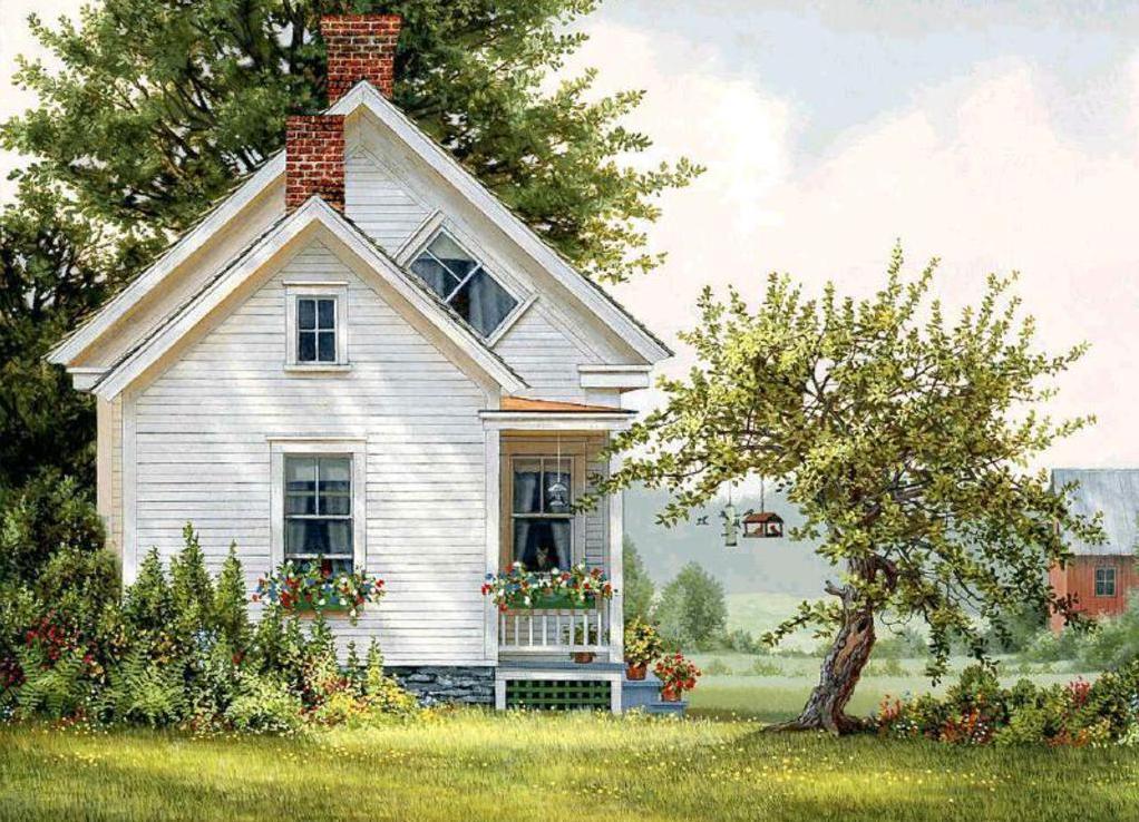 Картины дачные домики фото