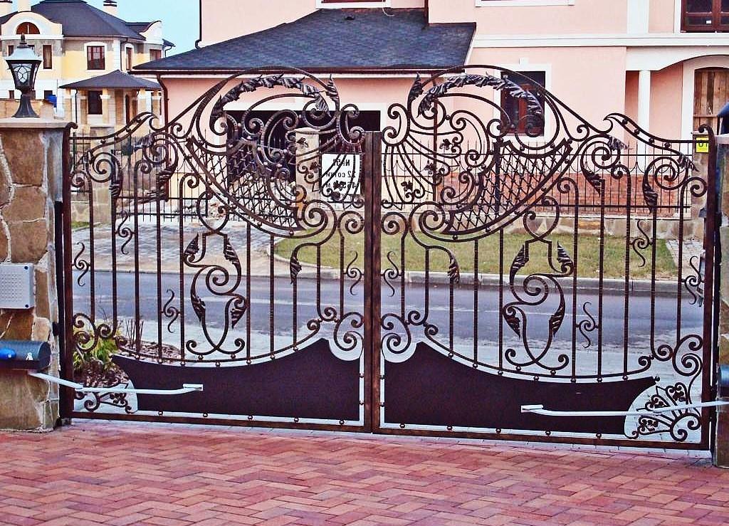 фото красивых ворот.