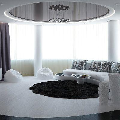 черно белый потолок фото