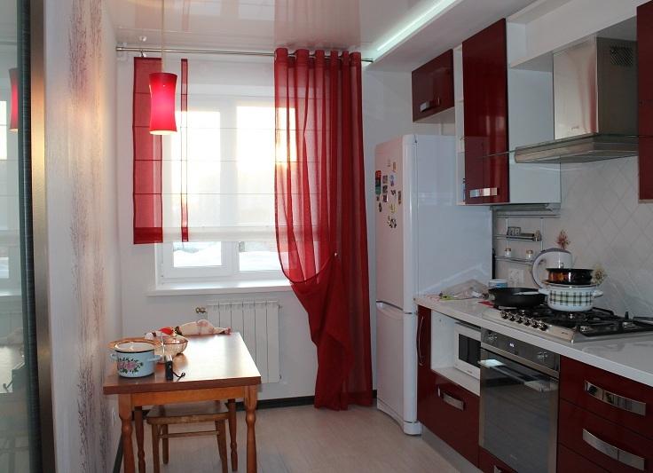 кухни с карнизами фото