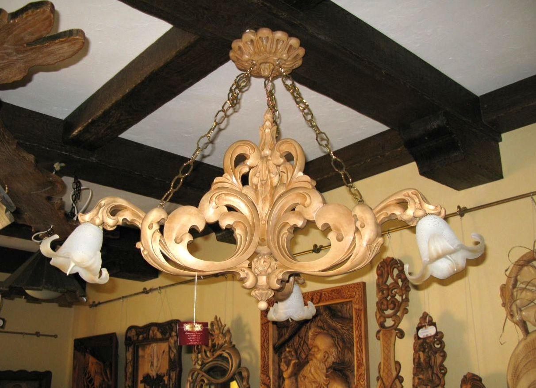 Деревянные люстры фото для гостиной