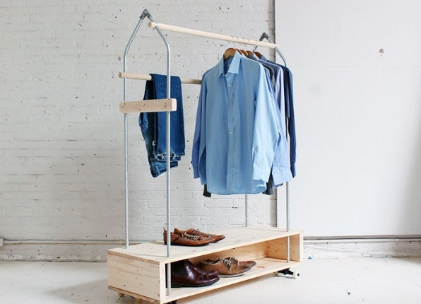 Вешалка для одежды напольная своими руками фото
