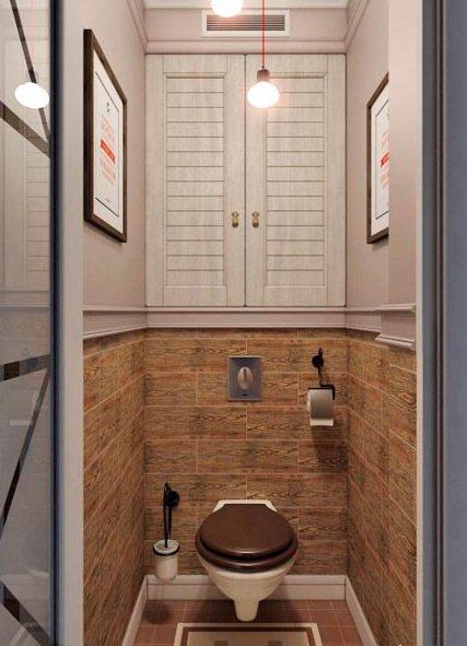 Чем и как сделать шкаф в туалете фото