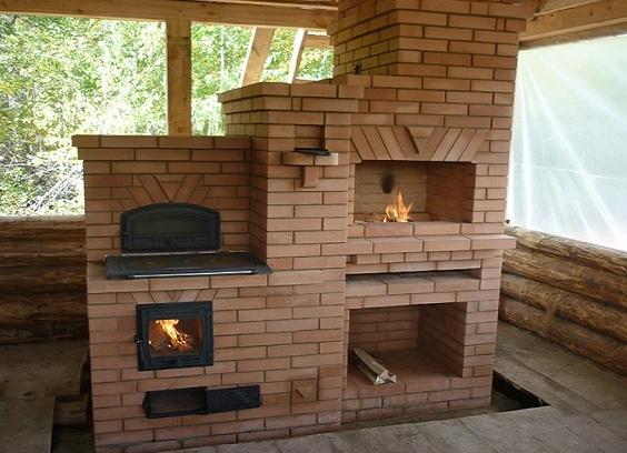 Печка для дачи из кирпича: фото, схемы, инструкция - Всаду. ру