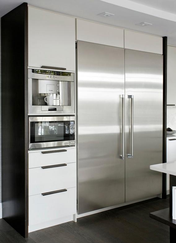 Встроенные кухонные шкафы фото если