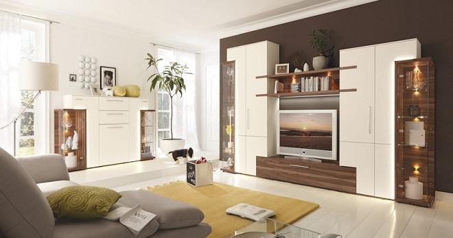 гостиная модерн дизайн интерьера современные обои мебель шторы