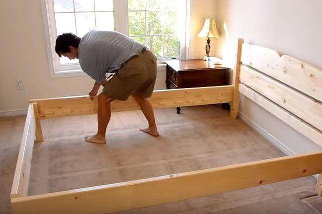 как сделать кровать из дерева своими руками