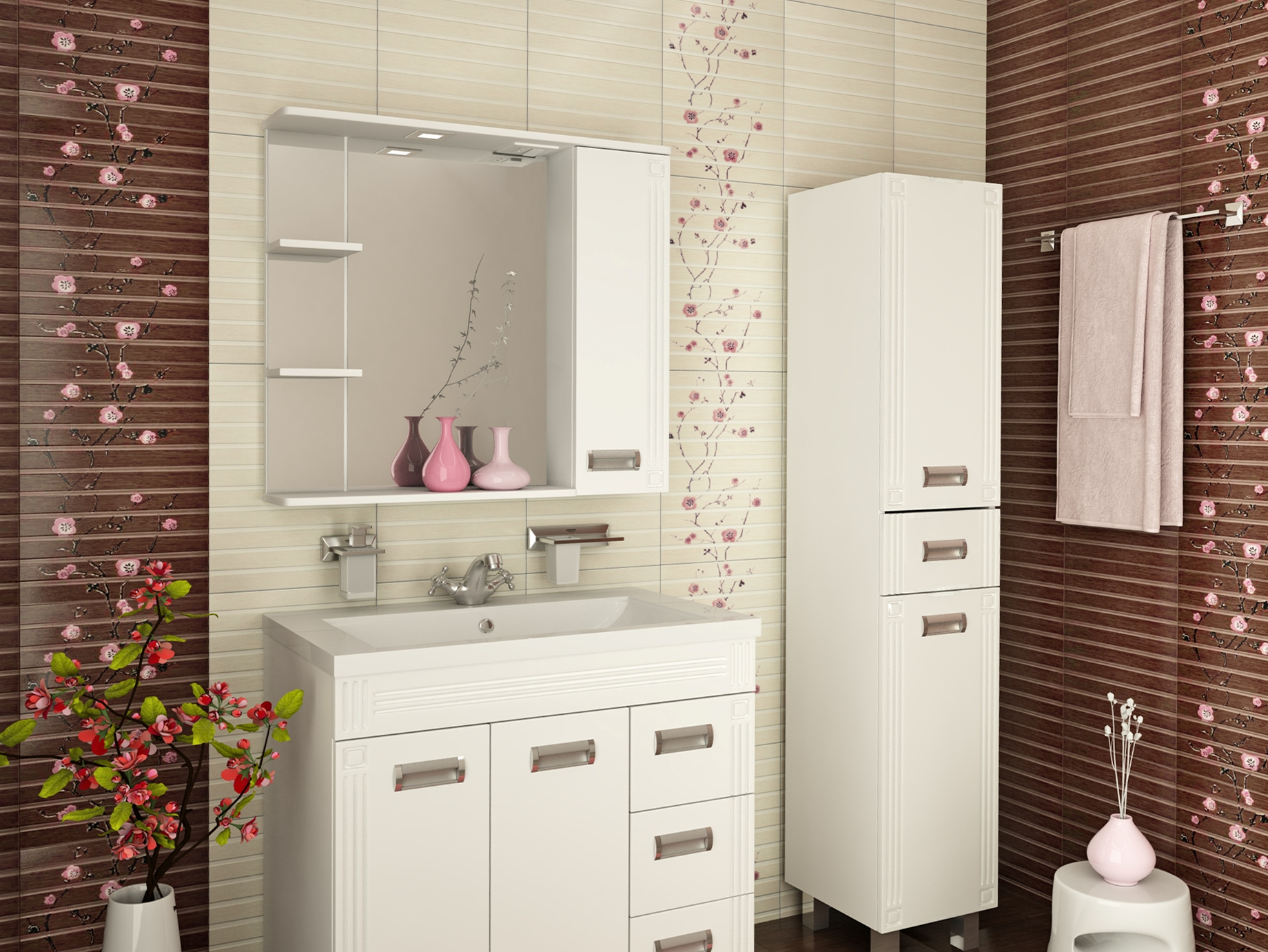 Шкафчик с зеркалом для ванной своими руками фото 986