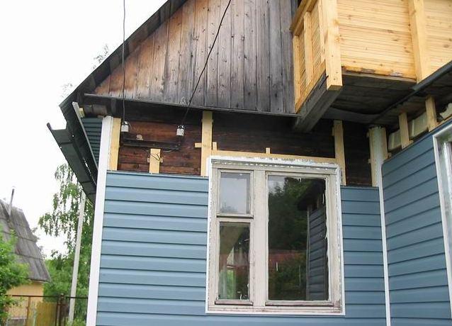 Отделка фасада деревянного дома своими руками 758