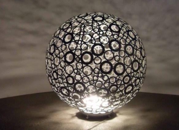 Светильник шар своими руками фото 575