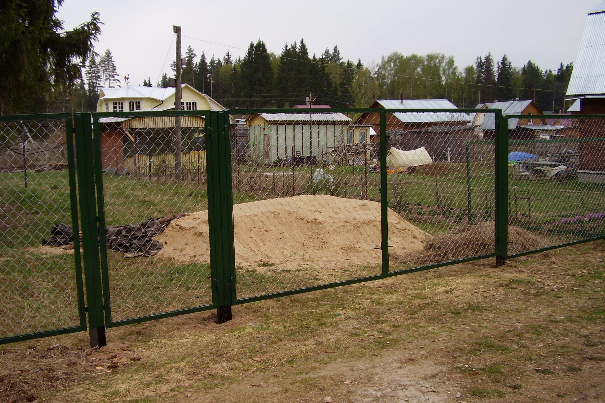 Забор своими руками из сетка рабица фото фото 522