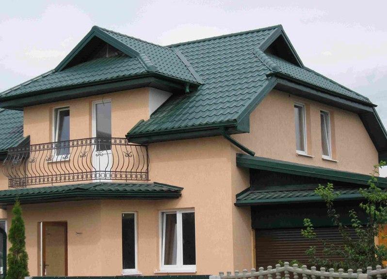 Цвет крыши для красного дома