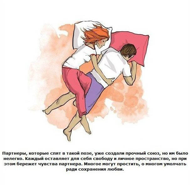 позы сна вдвоем и их значение с картинками