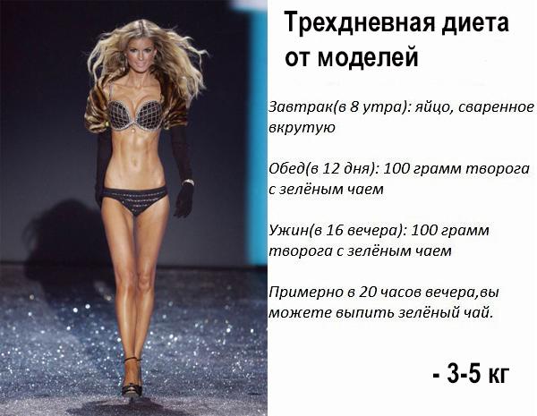 Модельная диета помогает