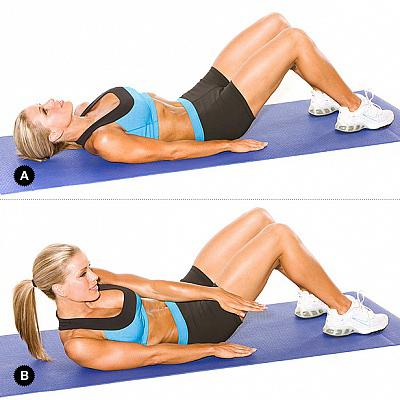 эффективные упражнения для похудения живота и боков4