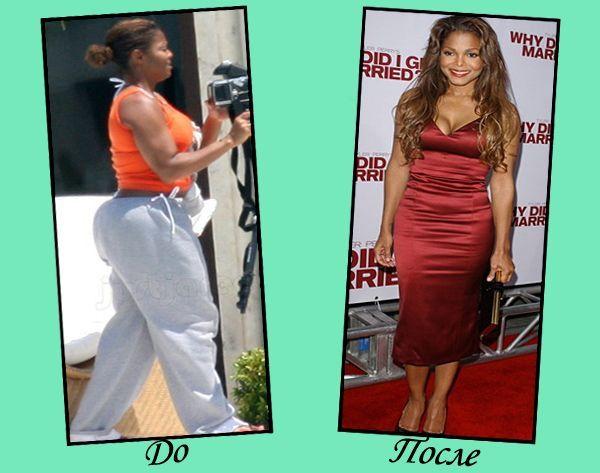Звезды голливуда после диеты до и после