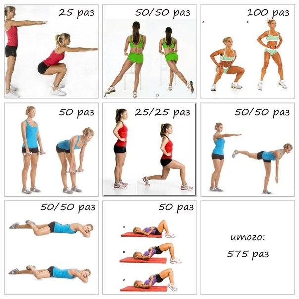 Комплекс упражнений похудения живота девушке