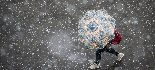 приснился снег