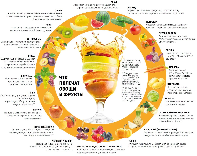 Соки полезные свойства и противопоказания. Сокотерапия по Уокеру: лечебные свойства соков