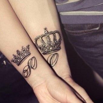 Татуировки короны на запястье 82