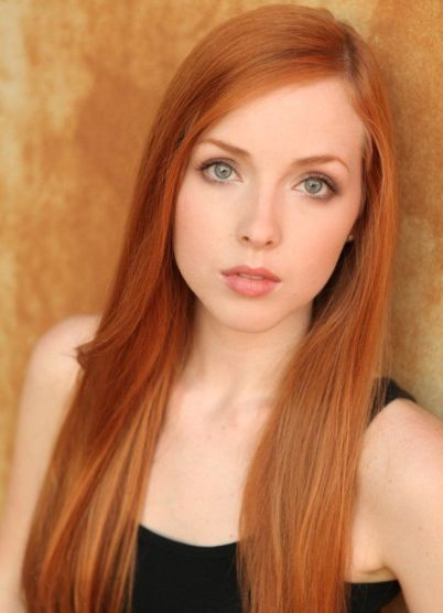 фото ярко рыжий цвет волос