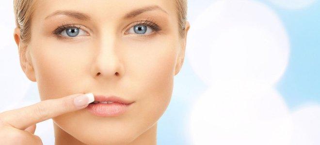 Белые точки на губах под кожей