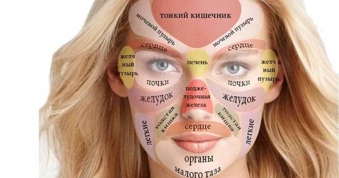 За какие органы отвечают прыщи на лице, и как выявить заболевание по зоне высыпаний?