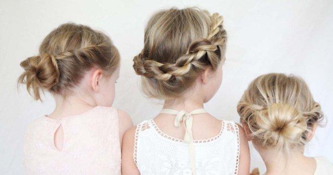 Красивые детские прически для девочек на длинные, средние, короткие волосы