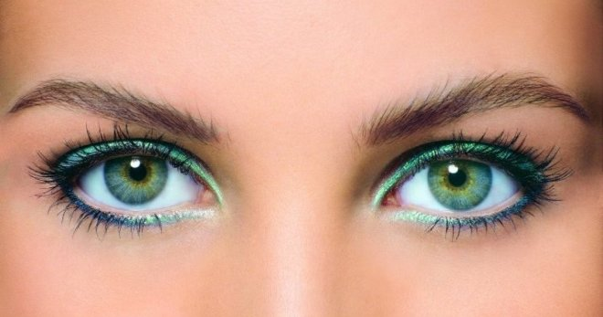 Макияж для зеленых глаз и русых
