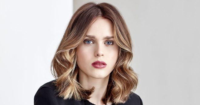 Балаяж на темные волосы средней длины – 18 трендовых вариантов