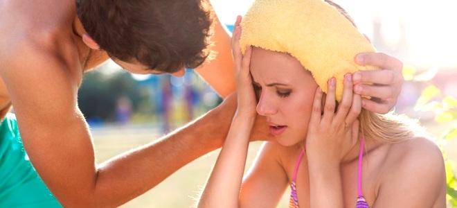 Перегрев на солнце – симптомы у взрослых