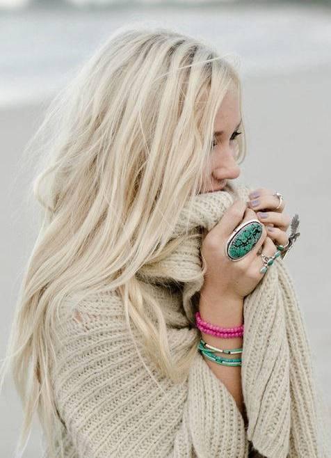 блонд перламутровый фото