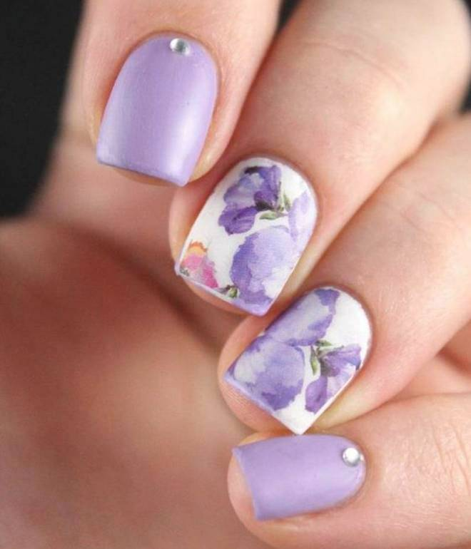 blid manicure på kort negle gel lak 1
